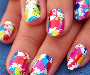 nails, colorful, and colors image