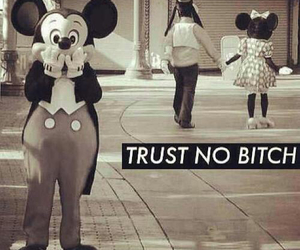 bitch, disney, and mickey image