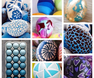 decorated eggs, easter eggs, and eggs image