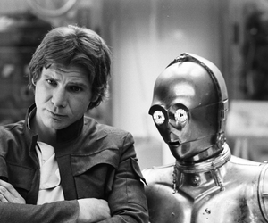star wars, c3po, and han solo image
