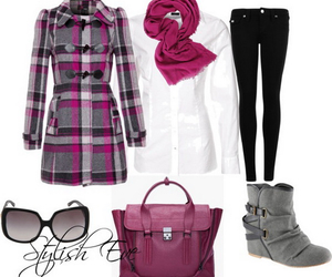 boots, coat, and purse image