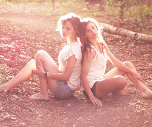girl, nature, and sunlight image