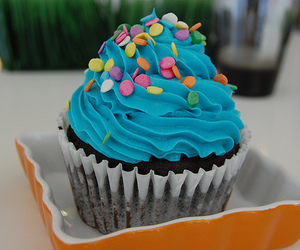 cupcake, food, and blue image