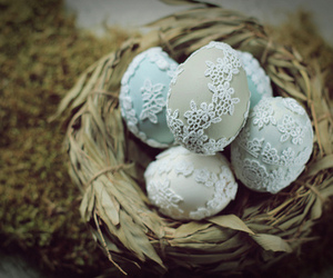 easter, eggs, and lace image