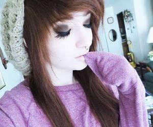 cute girl, dyed hair, and alt scene image