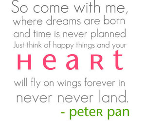 dreams, heart, and peter pan image