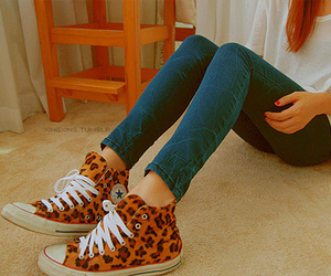 girl, converse, and shoes image