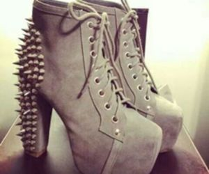 edgy, spikes, and heels image