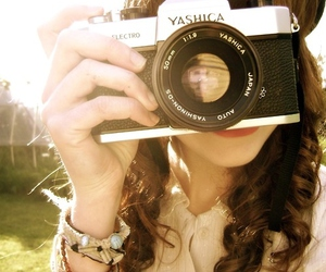 camera, girl, and bracelet image