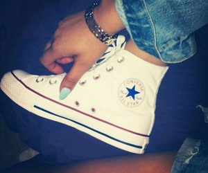 converse, nails, and shoes image