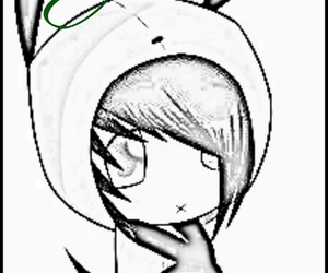 gir, Invader Zim, and emo drawings image
