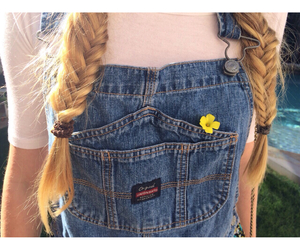 country, white girl, and fishtail braid image