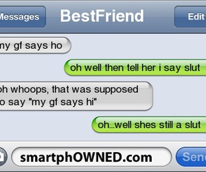 funny, girlfriend, and hoe image
