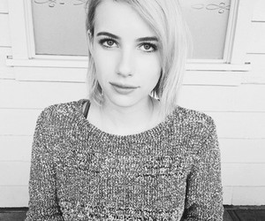 emma roberts and black and white image