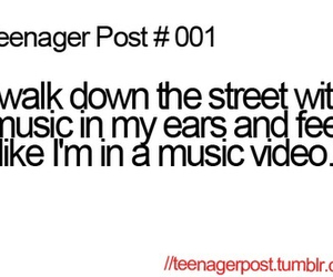 teenager post, music, and funny image