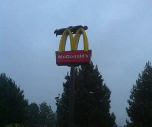 planking and McDonalds image