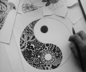 drawing and black and white image