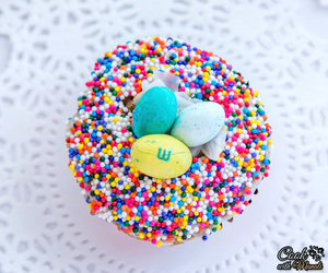 cupcakes, decor, and easter image