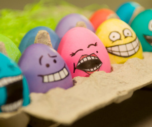 eggs, funny, and smile image