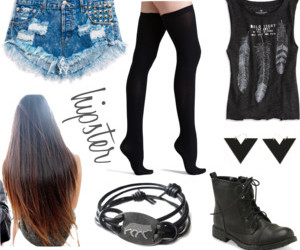boots, grunge, and hairstyle image