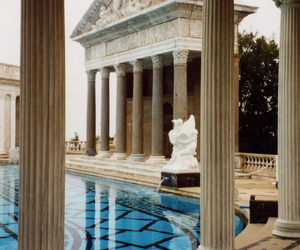 architecture, classic, and swimming pool. summer image