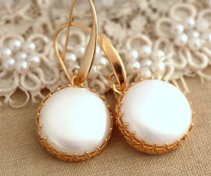 bridal jewelry, classic, and earrings image