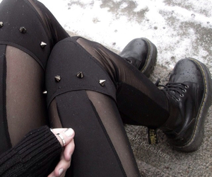 black, girly, and boots image