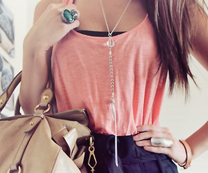 bag, blouse, and girly image