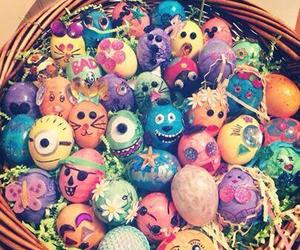 food, happy easter, and minions image