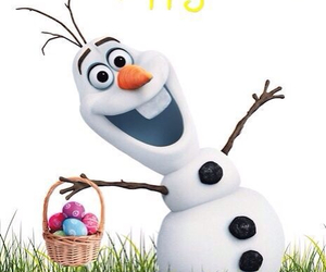disney, easter, and olaf image