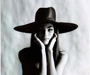 black and white, hat, and vogue image
