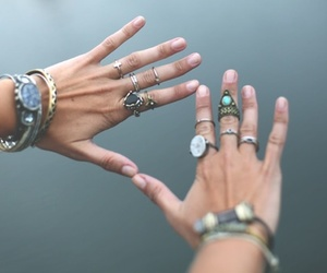 hands, hipster, and rings image