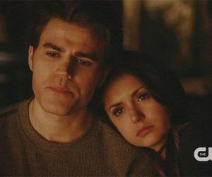 the vampire diaries, stefan and elena, and tvd image