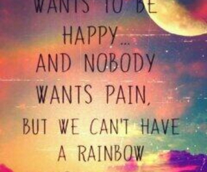 pain, quotes, and rainbow image