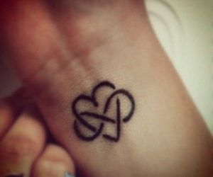 heart, infinity, and Tattoos image