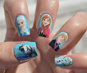 anna, nails, and frozen image