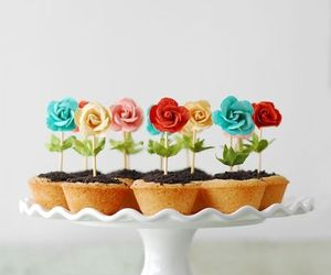 flowers, food, and Cookies image
