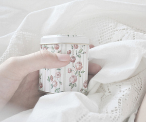 white, floral, and photography image