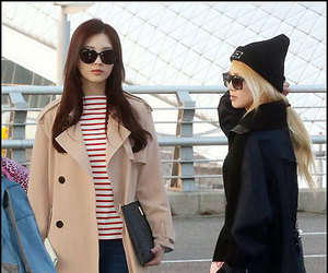 snsd, seohyun airport, and hyoyeon airport image