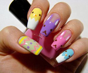 easter nails, easter, and nails image