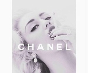 chanel, miley cyrus, and black and white image
