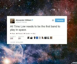 alex gaskarth, all time low, and galaxy image