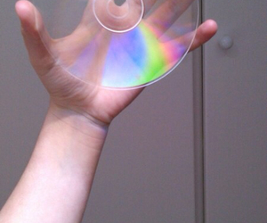 cd, grunge, and rainbow image
