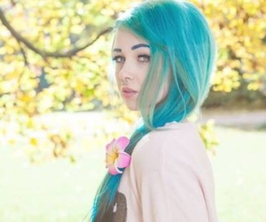 bluehair, color, and flowers image