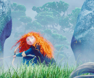 bow and arrow, fate, and merida image