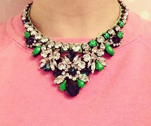 green, necklace, and pink image