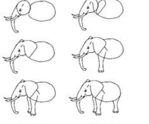 draw, elephant, and drawing image