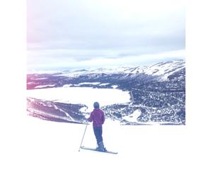 mountain, norway, and ski image