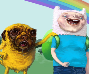 crazy, finn the human, and fuck image