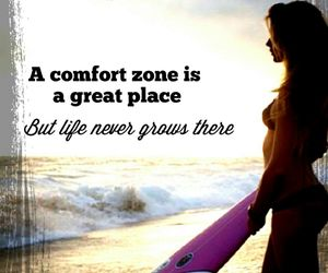 comfort zone, girl, and life image